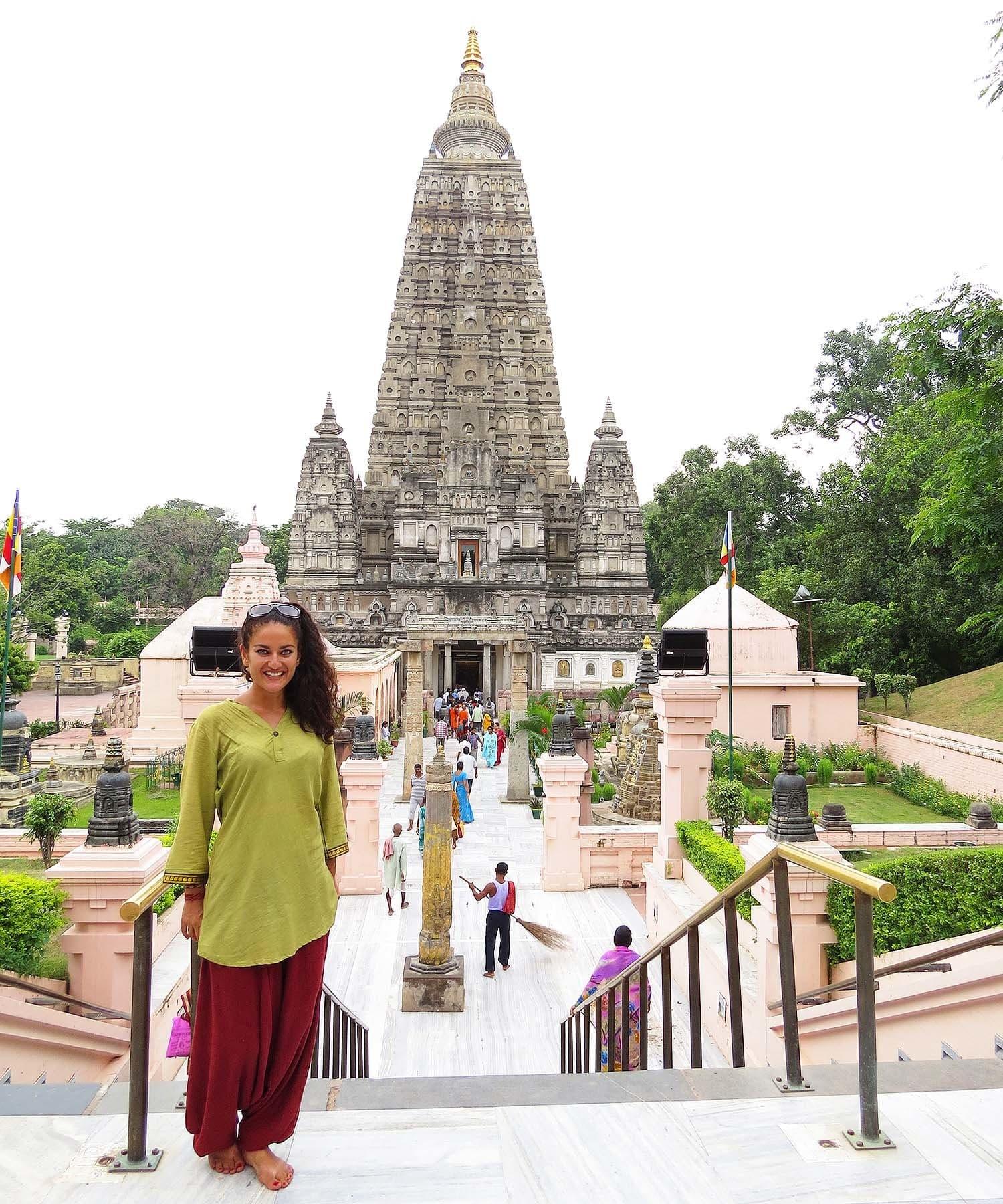 Mahabodhi temple in Bodhgaya.