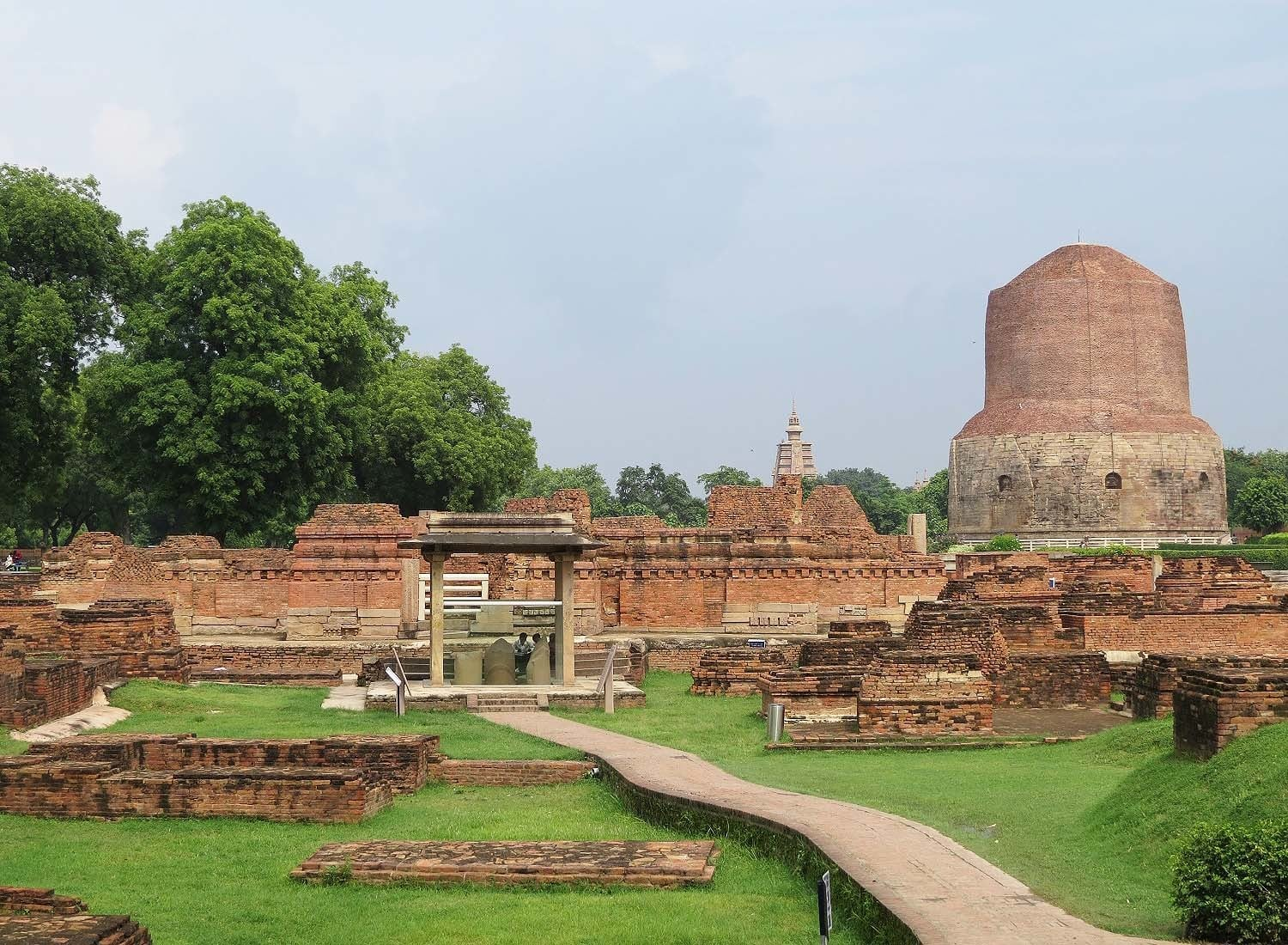 Ruins and a Stupa in Sarnath