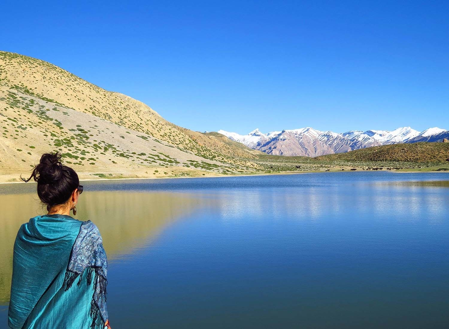 Dhankar lake, Spiti Valley.
