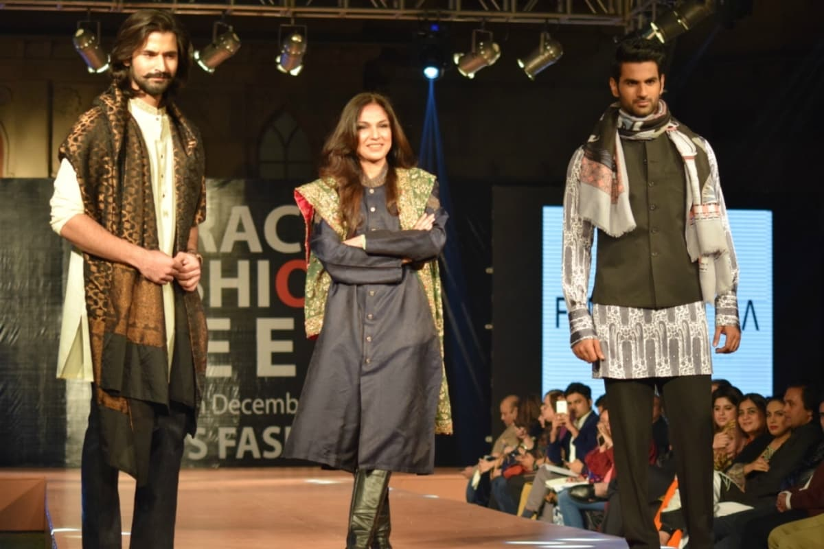 FnkAsia switched things up with a sherwani-donning Atiya Khan as their showstopper