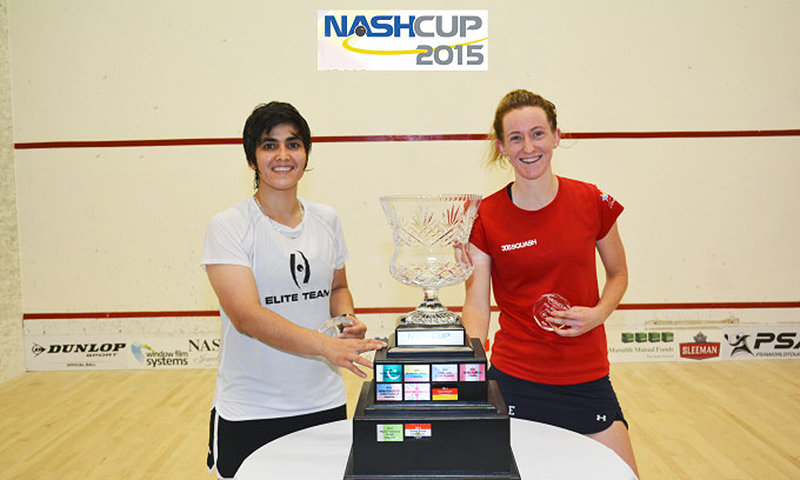 Maria Toor (l) poses with her Nash Cup trophy. — Photo courtesy Nash Cup