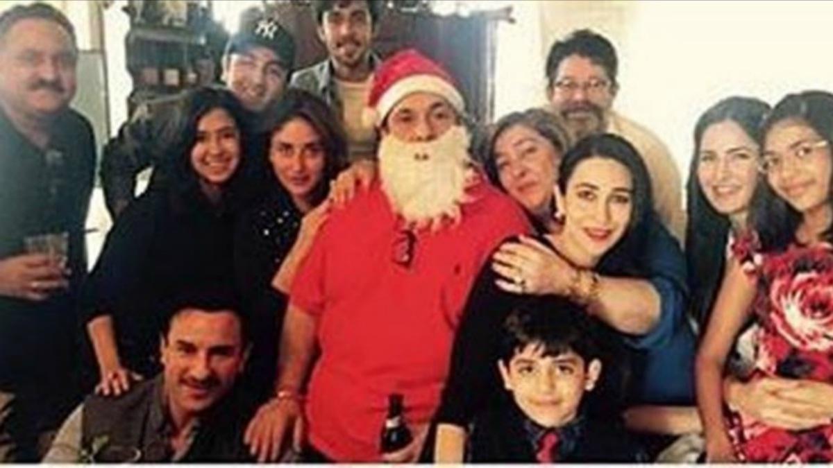 Shashi Kapoor Christmas Party Part - 18: Katrina Looks Comfy With The Kapoor Clan In This Xmas Party Photo U2013 Photo  Courtesy Filmfare
