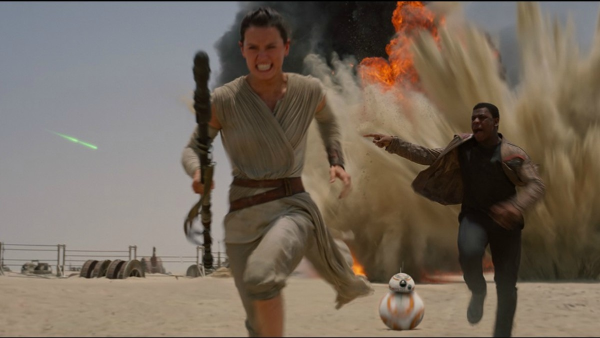 Rey is a Jakku scavenger, a survivor toughened by life on the harsh desert planet