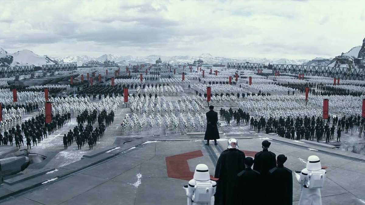 The First Order assembles in Star Wars: The Force Awakens