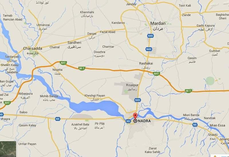 دھماکے کے مقام کا نقشہ—۔ڈان نیوز