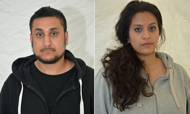 A combination of two undated handout pictures shows (L-R) Mohammed Rehman and Sana Ahmed Khan. ─AFP