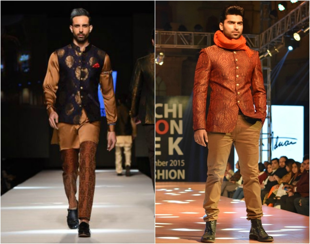 Amir Adnan opened the show on Day One (R) but his collection wasn't much different than stuff he has shown in the past (L)