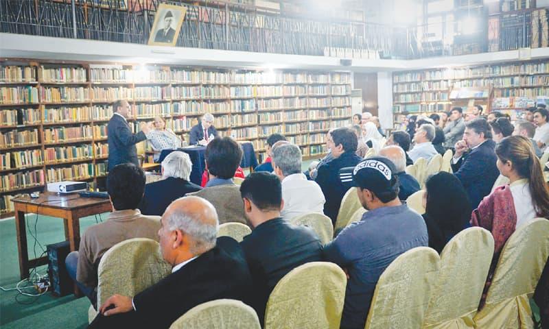 Ammar Jaffri speaks at the event on Wednesday.—White Star
