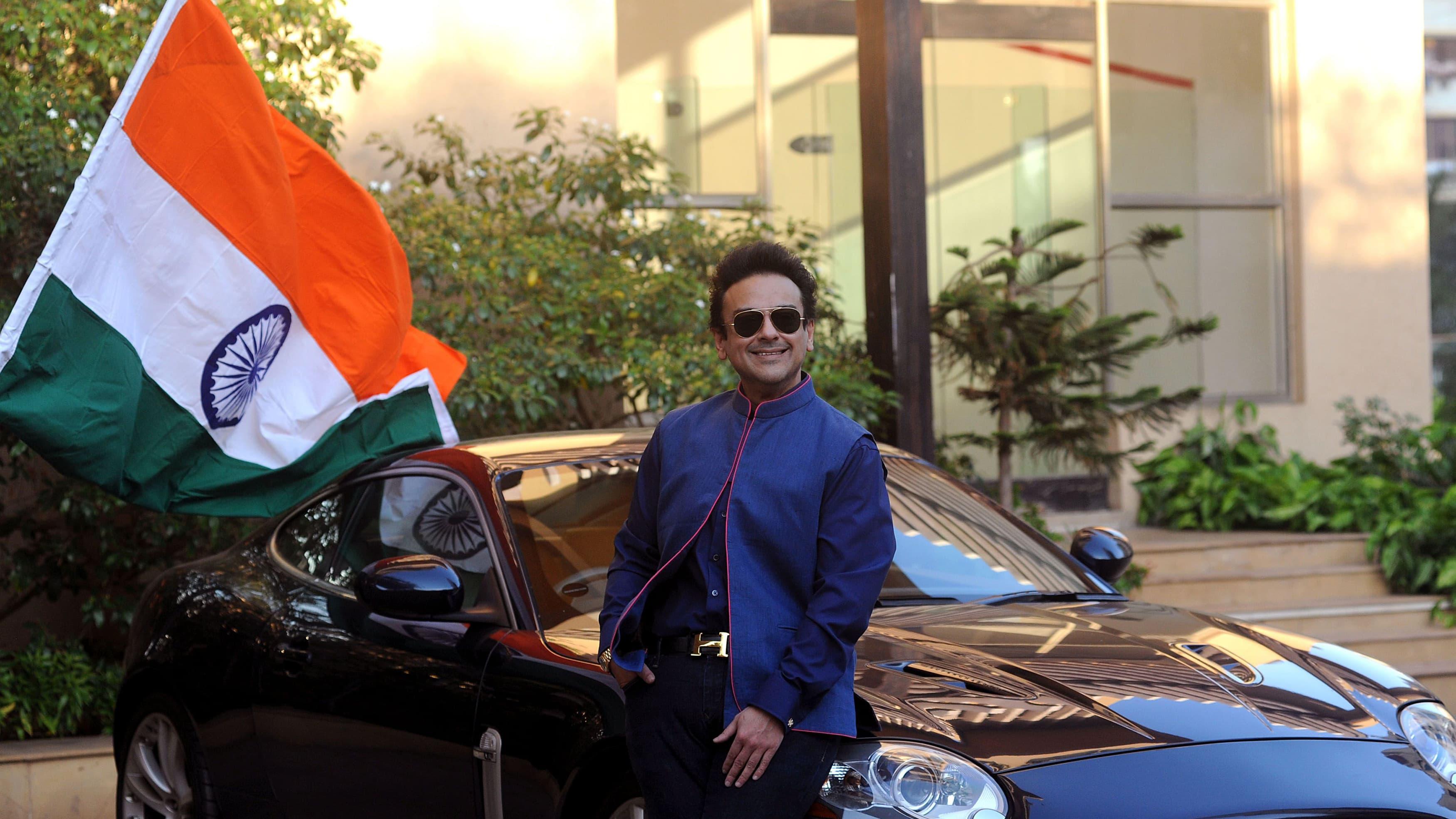 Adnan Sami poses as he celebrates being granted Indian citizenship. —AFP
