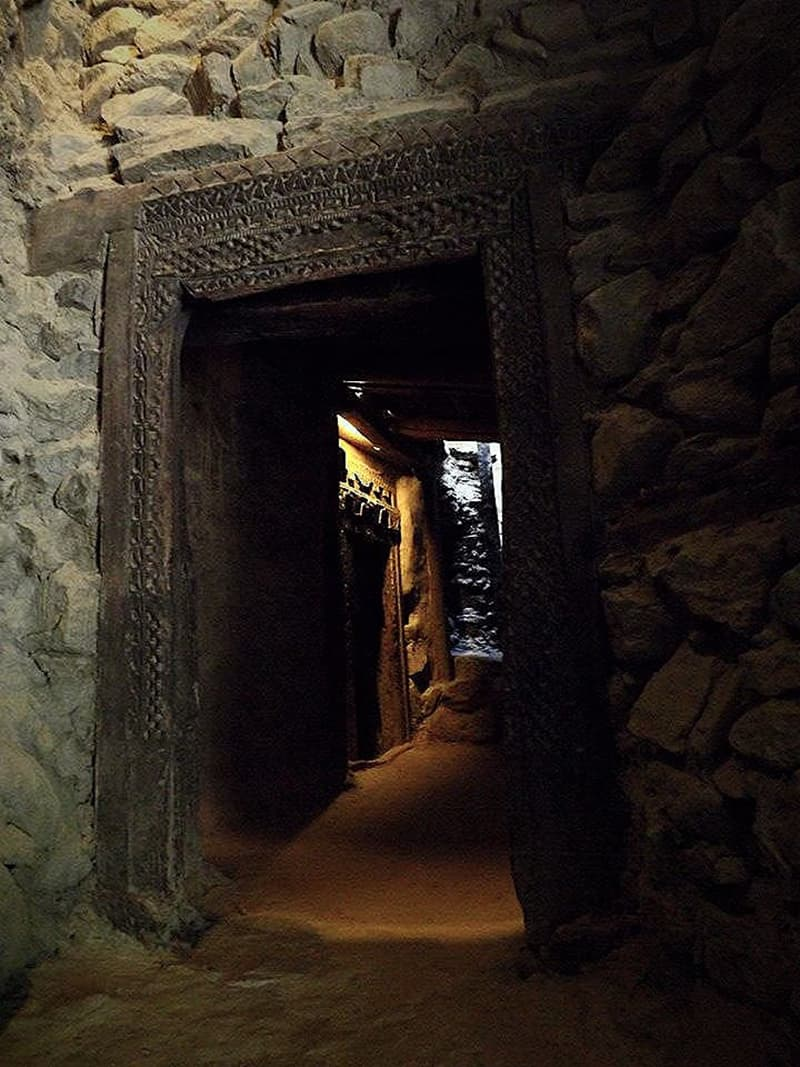 Interior of the great fort. These doors were purposefully built to be only five feet in length so that if the enemy was able to breach security, they would have to bend down to enter the fort hence making it easier for the guards to decapitate them.