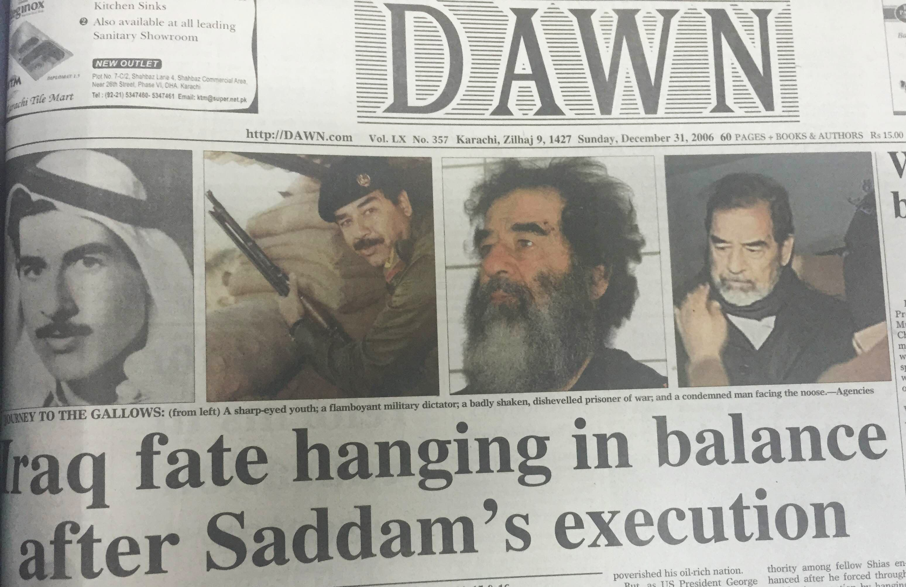 Saddam Hussein Captured In Hole Ace The