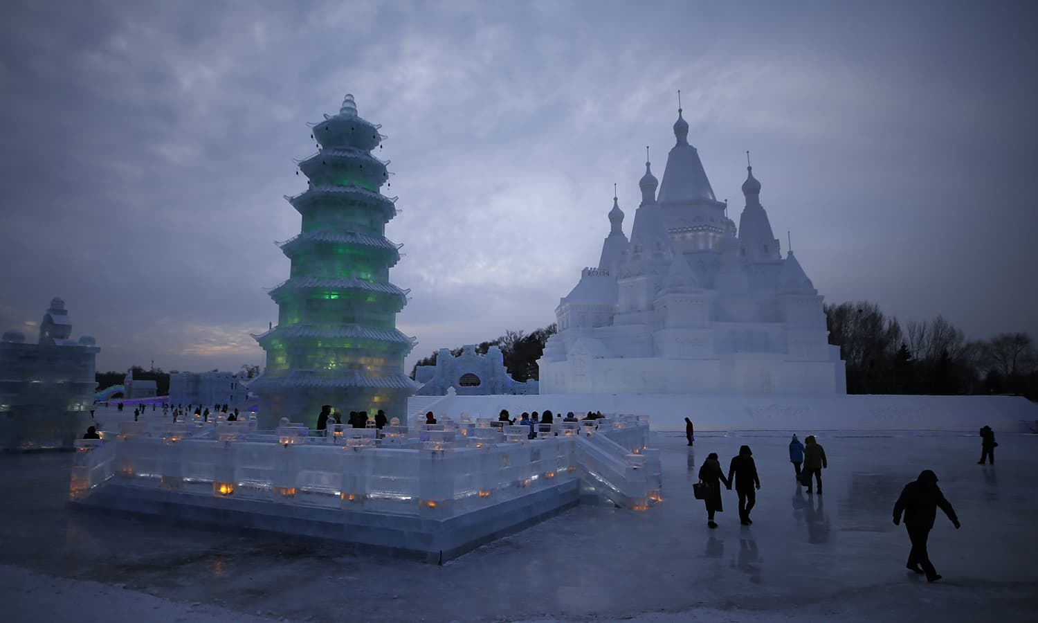 Ice and snow festival lights up china s northeast city
