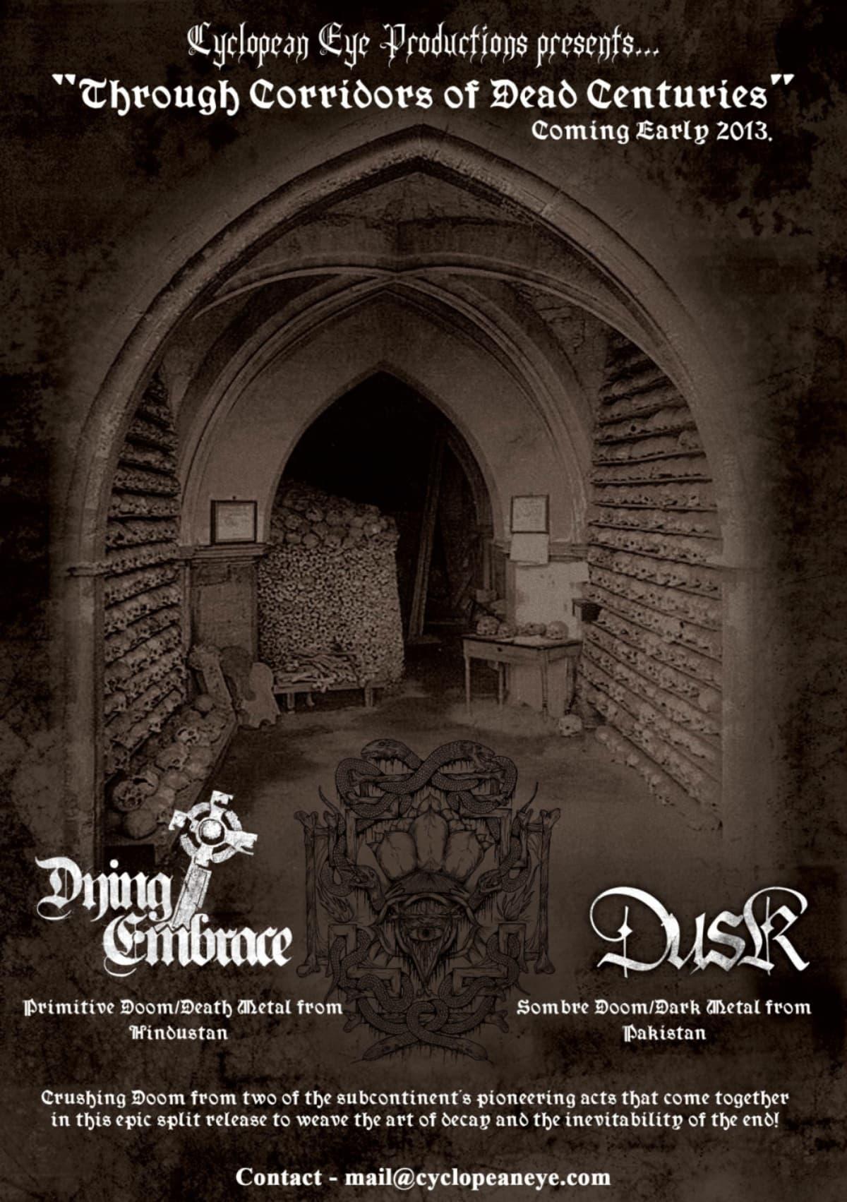 The artwork for Dusk's last album, Through Corridors of Dead Centuries