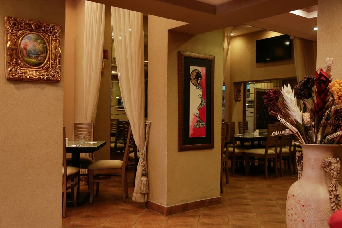 The roomy interiors of Cafe Backyard guarantee your privacy