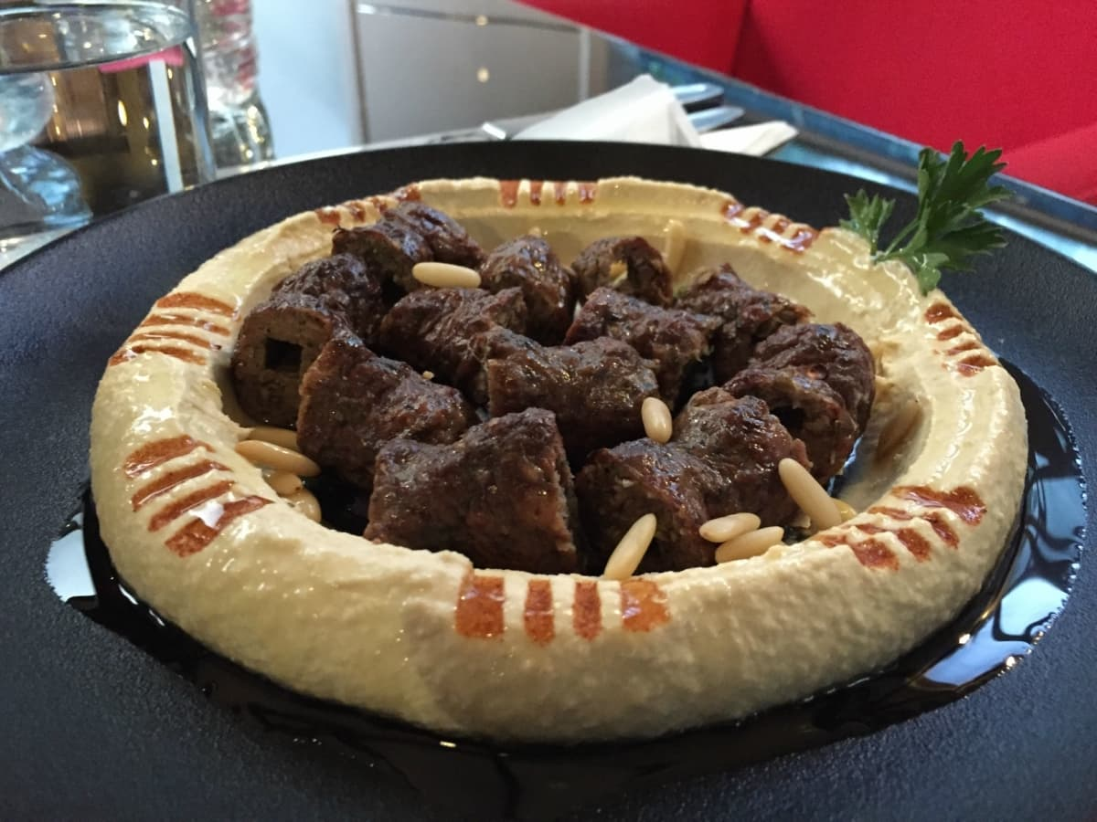Hummus with Grilled Kafta is a great option for a light meal