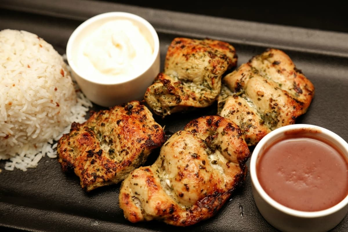 Moroccan Chicken is another grilled option available