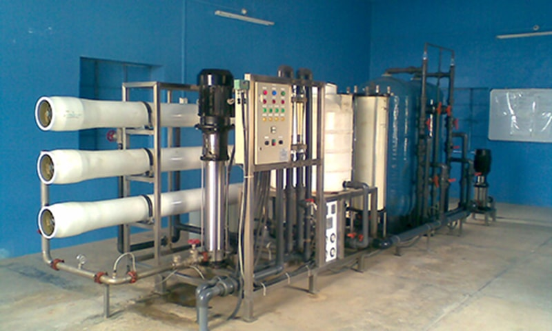 Pak Oasis has installed 400 reverse osmosis plants in the region's villages, including Asia's biggest plant which is installed in Mithi. —Photo by the author