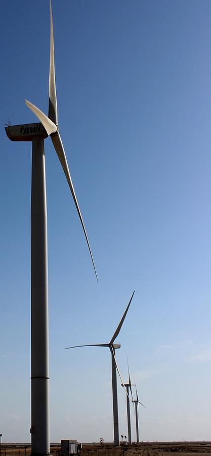 اے ای ڈی بی کے مطابق ہوا سے بجلی پیدا کرنے کے 6 منصوبے موجود ہیں۔