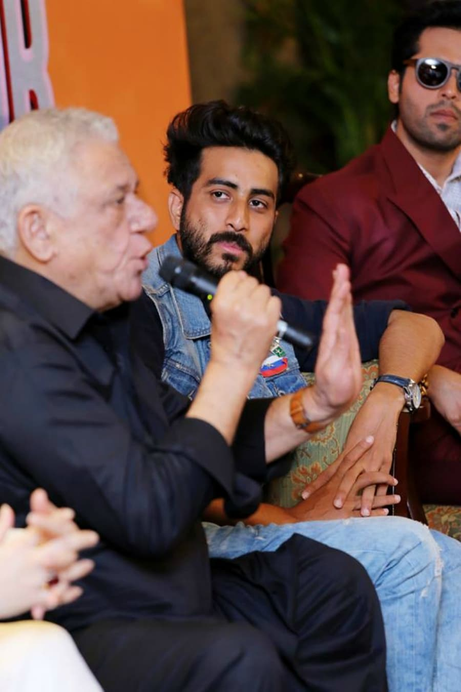 Om Puri isn't concerned about what people make of his decision to act in a Pakistan film – Photo courtesy Actor In Law's Facebook page