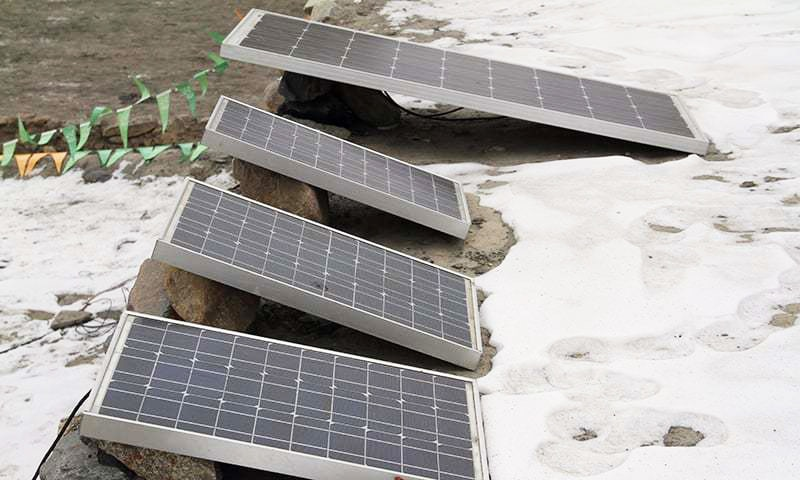 Locals in Shimshal have completely adopted solar energy.