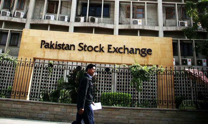 New signboards have been installed after the conversion of the Karachi Stock Exchange into the Pakistan Stock Exchange. ─ Online
