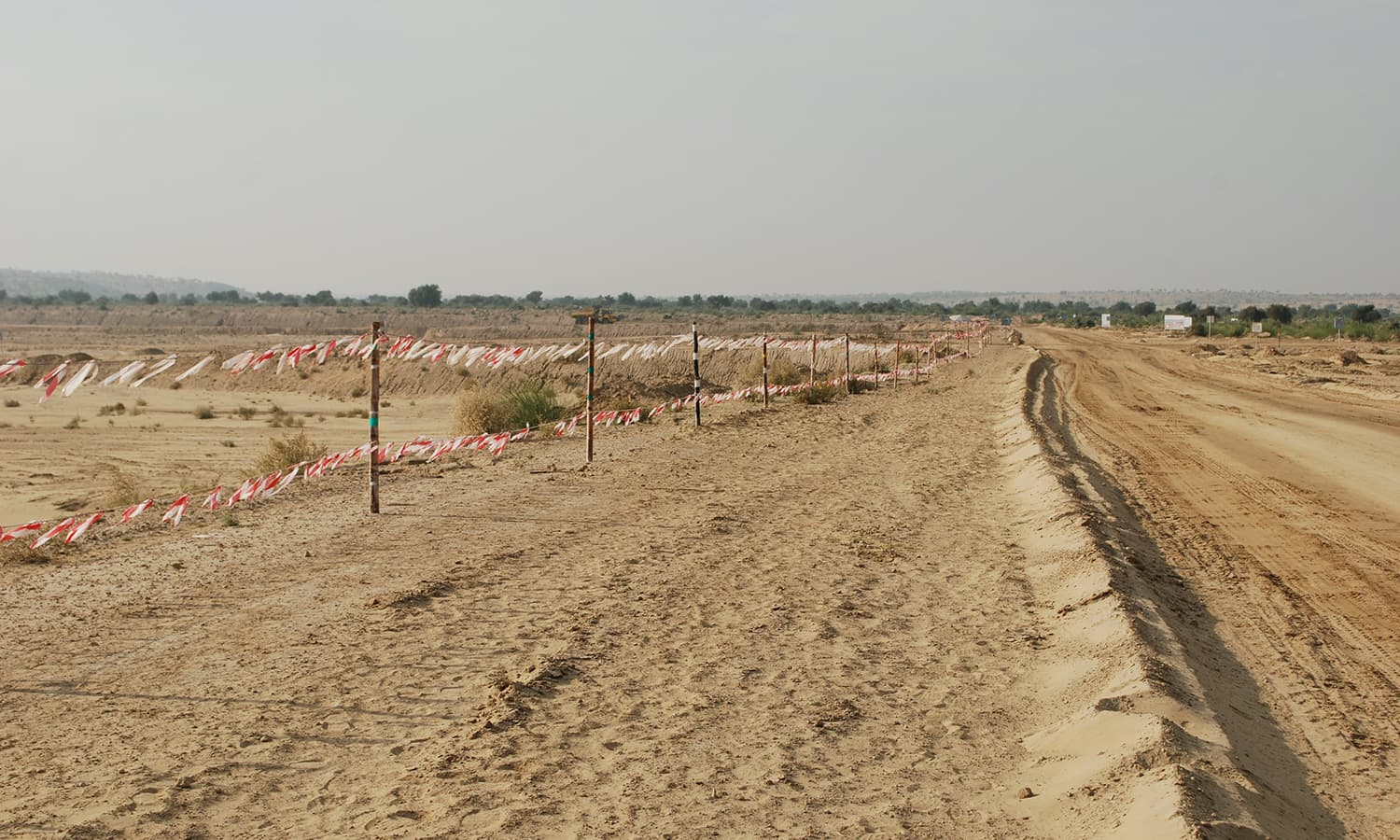 A view of the coal fields in Thar where excacation work is underway. —Photo by the author