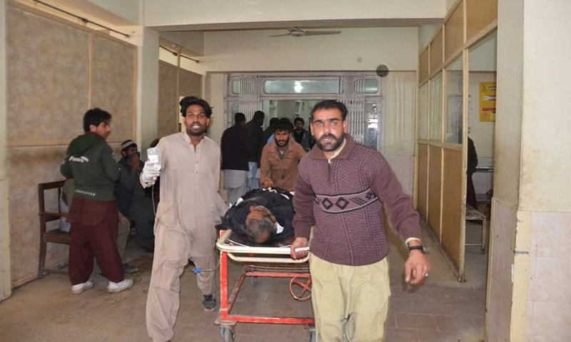 The casualties were shifted to Civil Hospital Quetta.—Photo by author