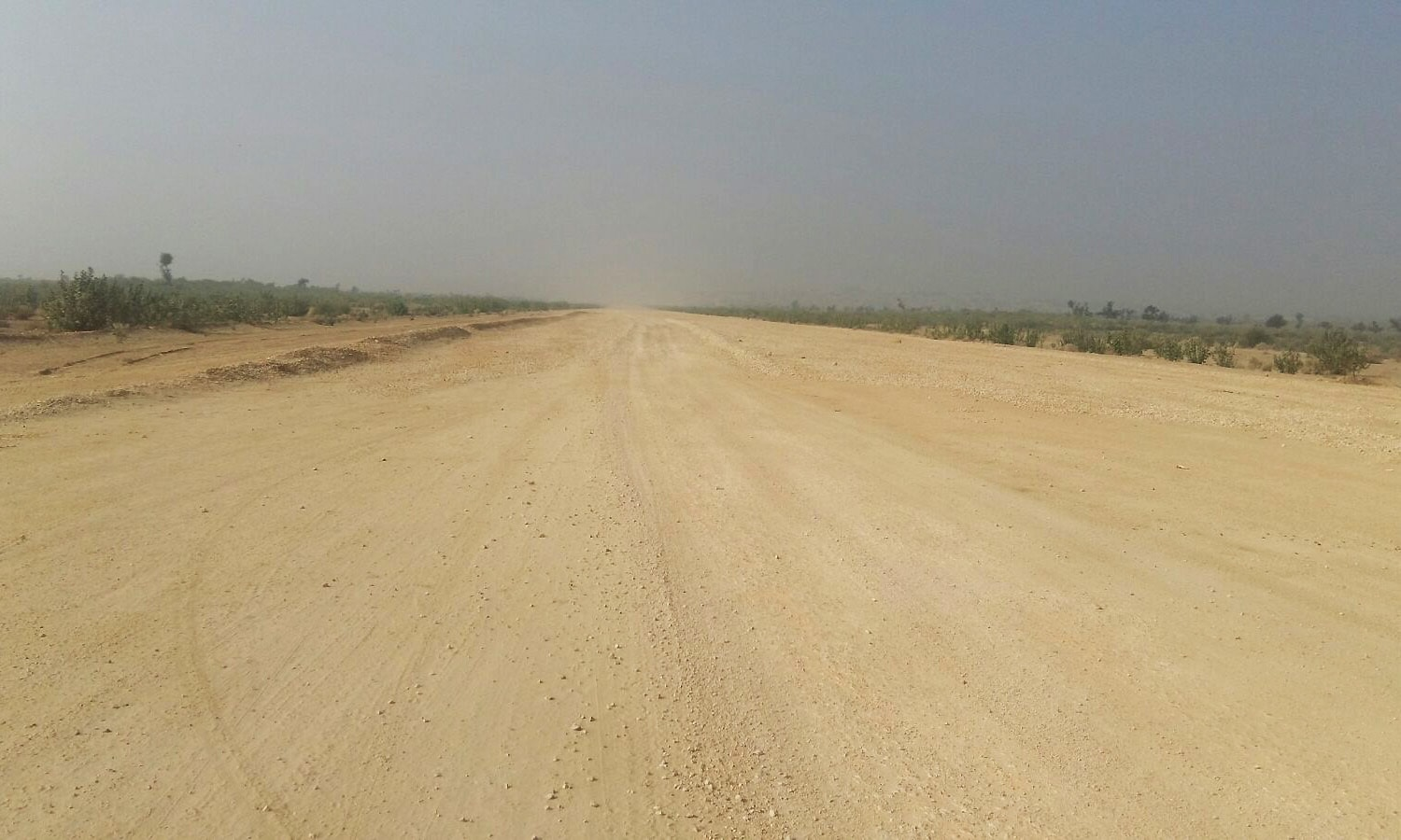 A view of a runway under construction in Thar. — Photo by author