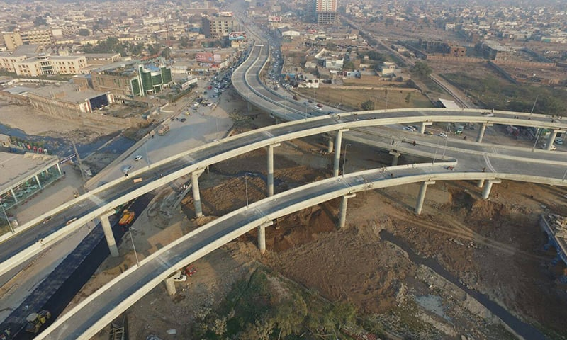 The project was completed in record five-month time at a cost of Rs1.72 billion. —Photo courtesy PTI