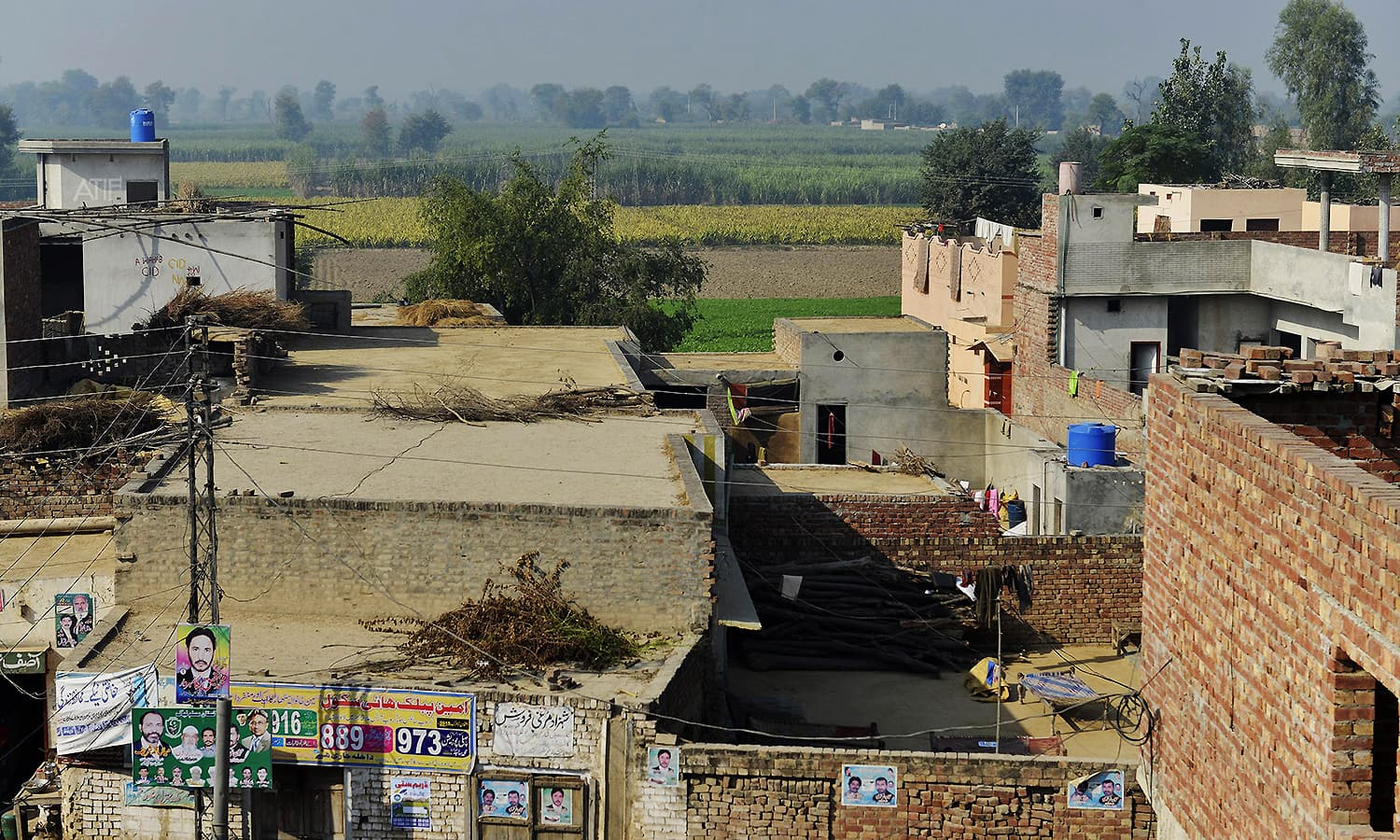 This photograph taken on November 20, 2015, shows Hussain Khan Wala village in Punjab province, the scene of one of Pakistan's worst child abuse cases. — AFP