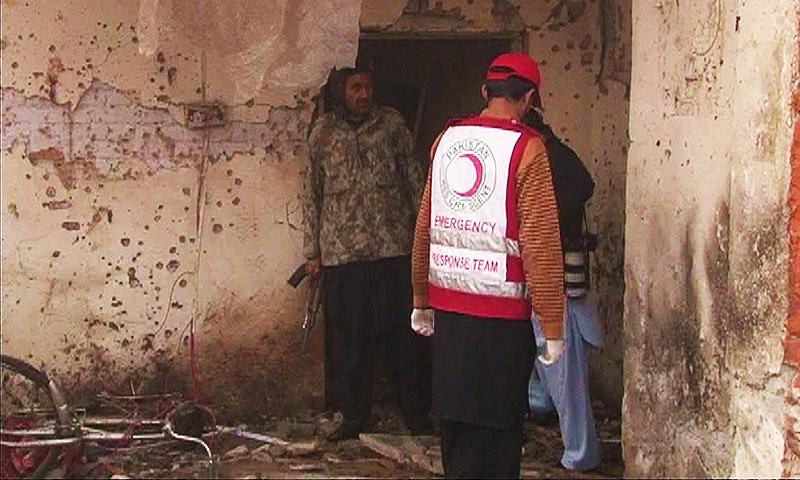 Most of the dead include Khasadar personnel.—DawnNews