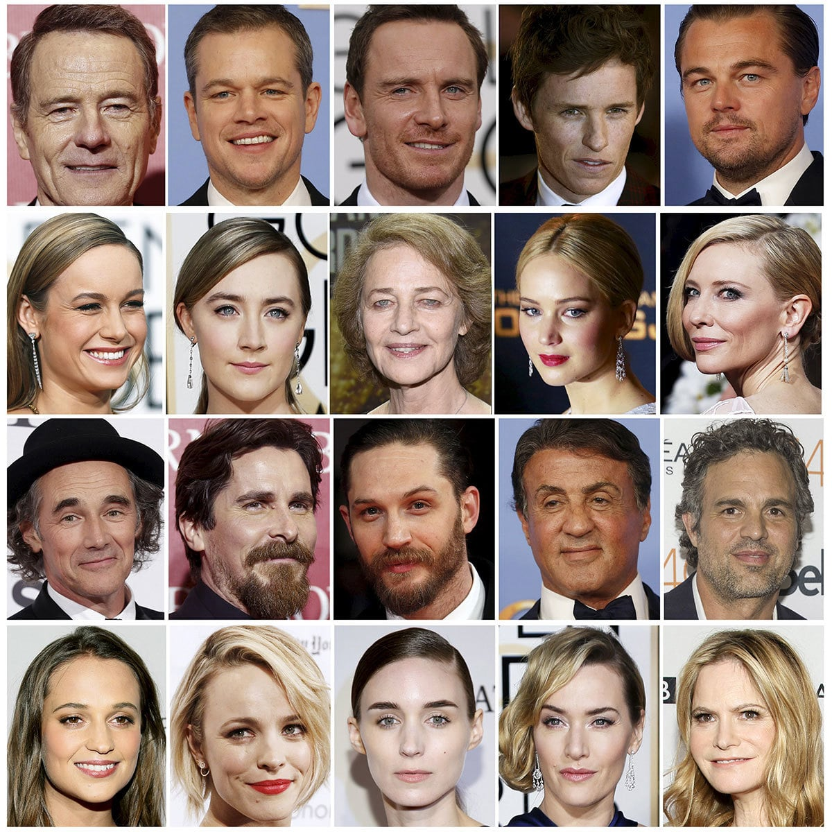 Oscar nominees are shown in this combination of file photos.─Reuters