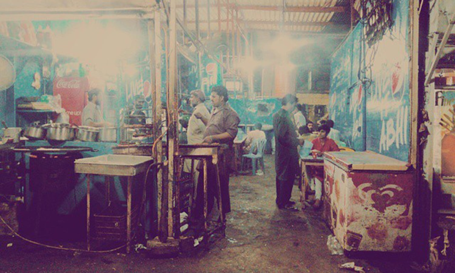 The first photo posted under the #GirlsAtDhabas hashtag taken at a dhaba near Cantt, Karachi. —Photo by the author