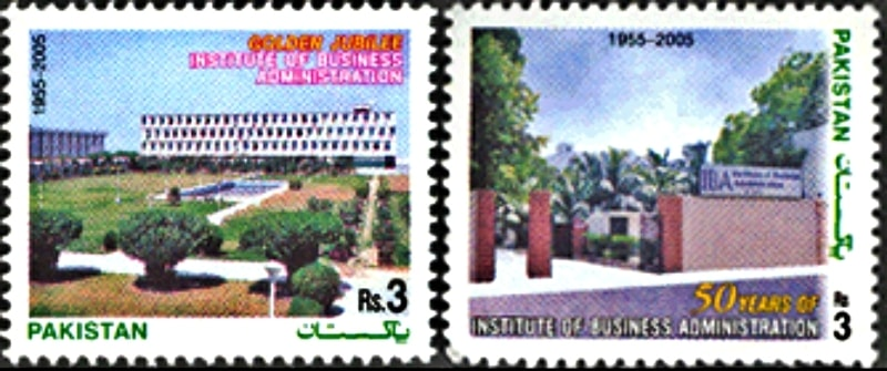 Stamps commemorating 50 years of IBA were issued in 2005