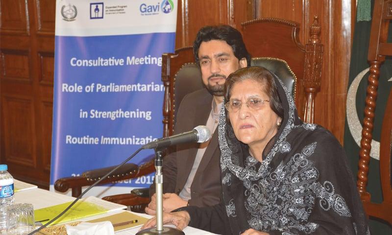 Dr Meher Taj Roghani, deputy speaker, KP Assembly