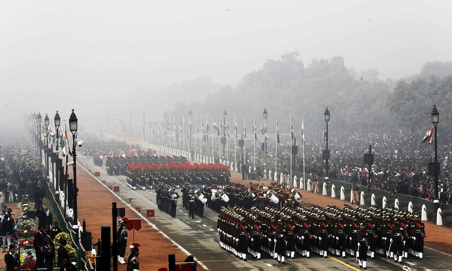 Indian soldiers march during the Republic Day parade. ─ Reuters