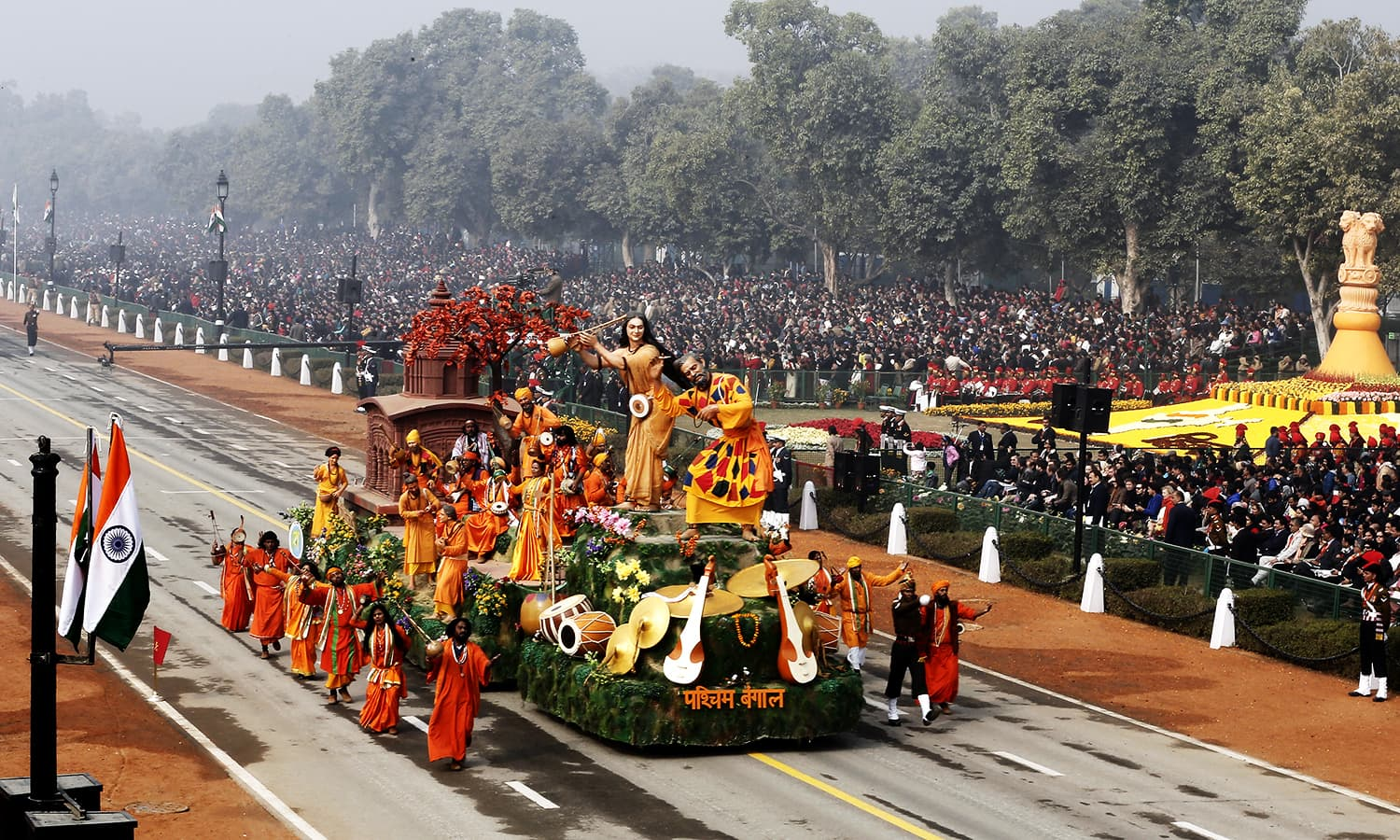 A tableau from the eastern state of West Bengal is displayed during the Republic Day parade. ─ Reuters