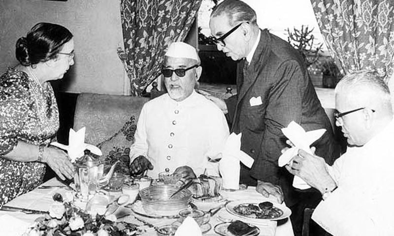 KA and Luba Hamied with his good friend Zakir Husain (second from left), who became President of India.