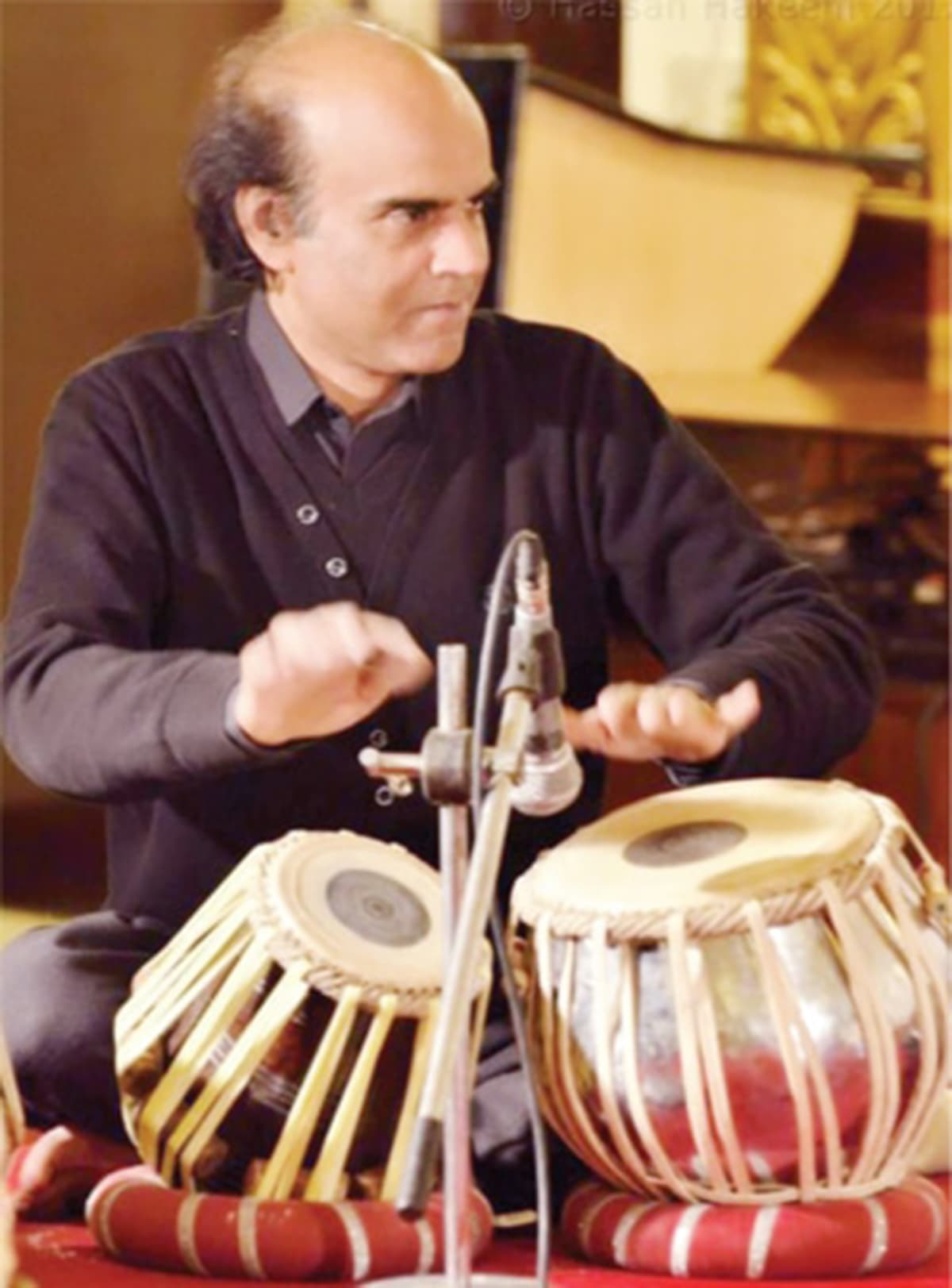 Mohammad Ajmal playing the tabla