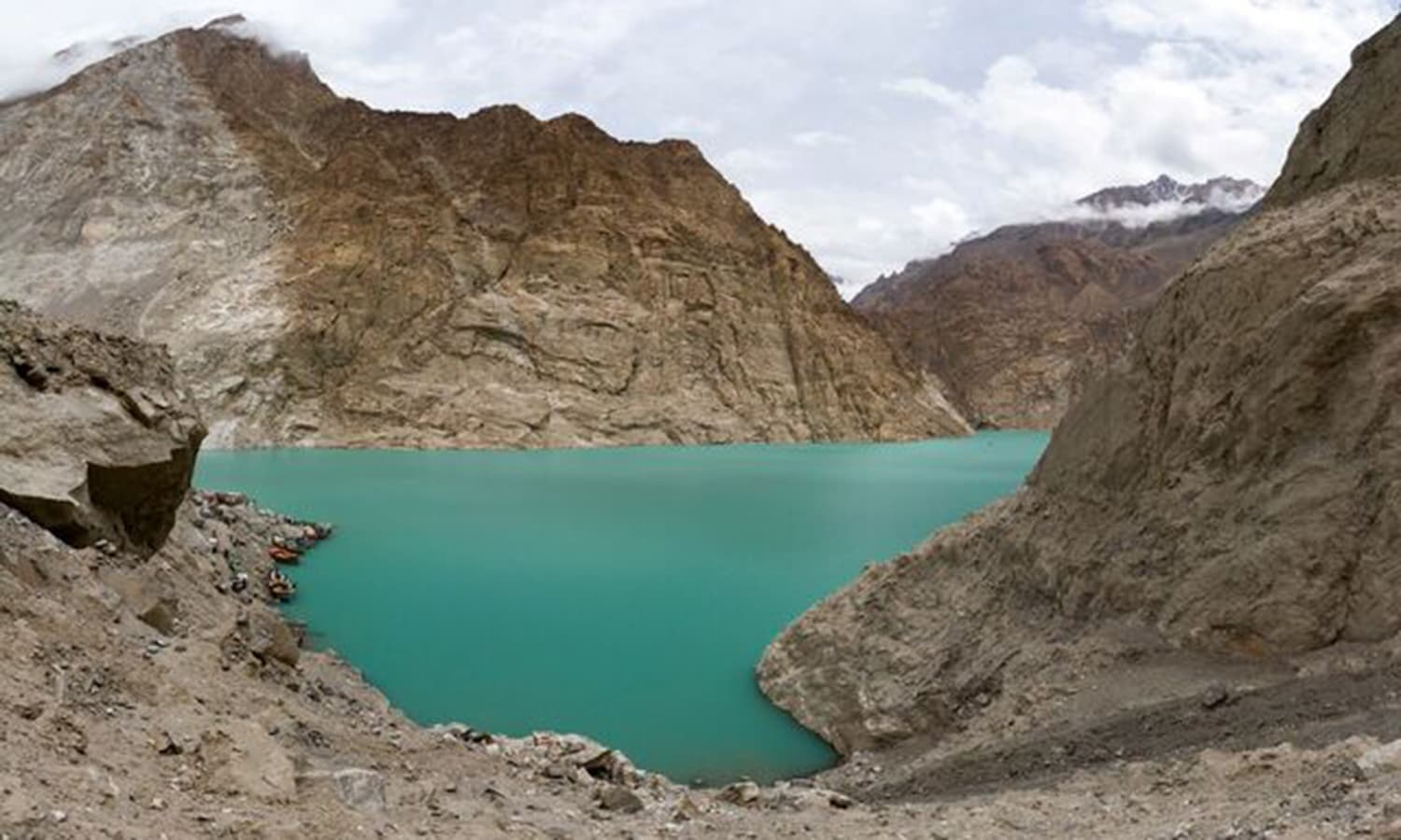 Attabad Lake in Gojal in Upper Hunza. —Photo by Ghulam Rasool