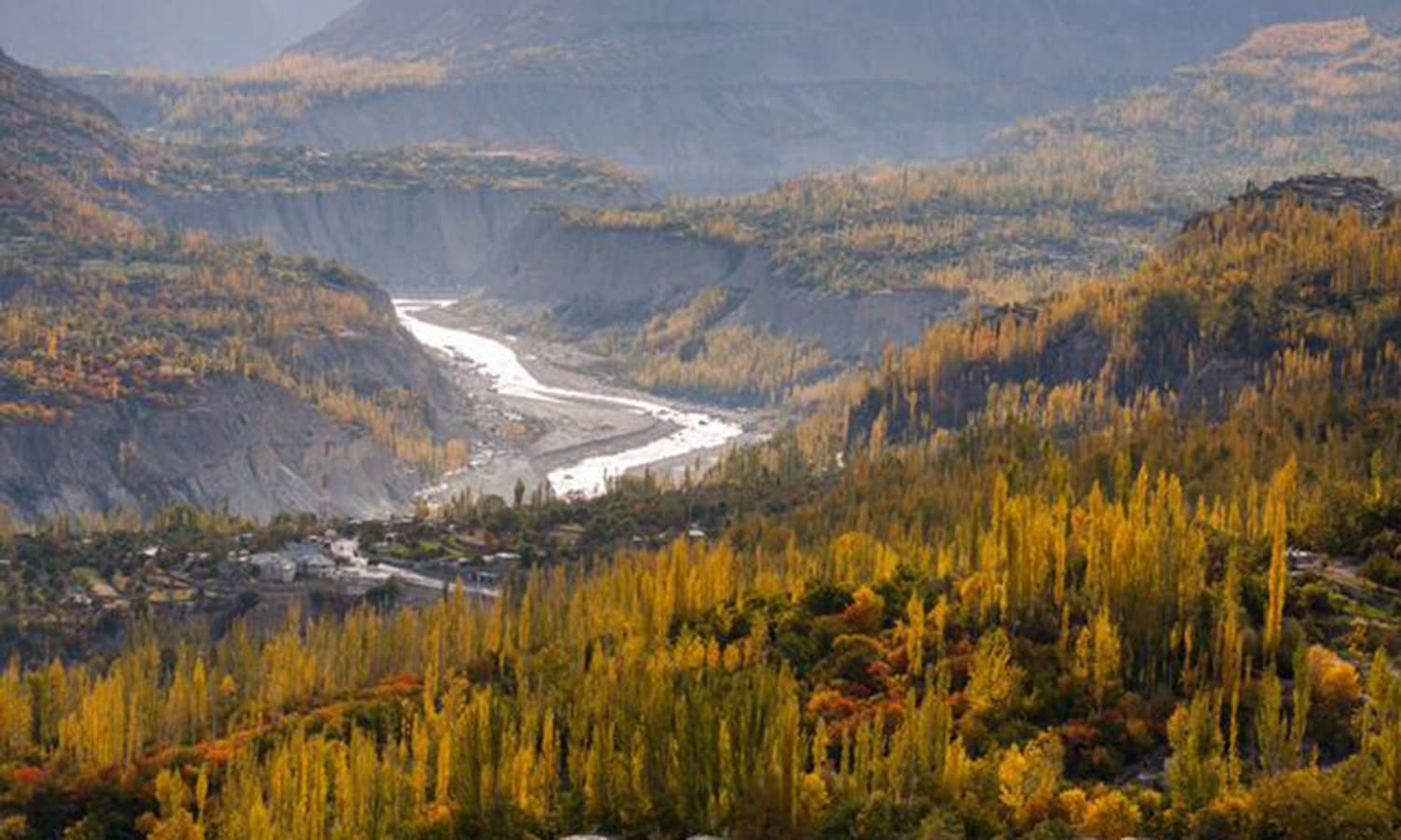 A panoramic view of Hunza valley. —Photo by Ghulam Rasool