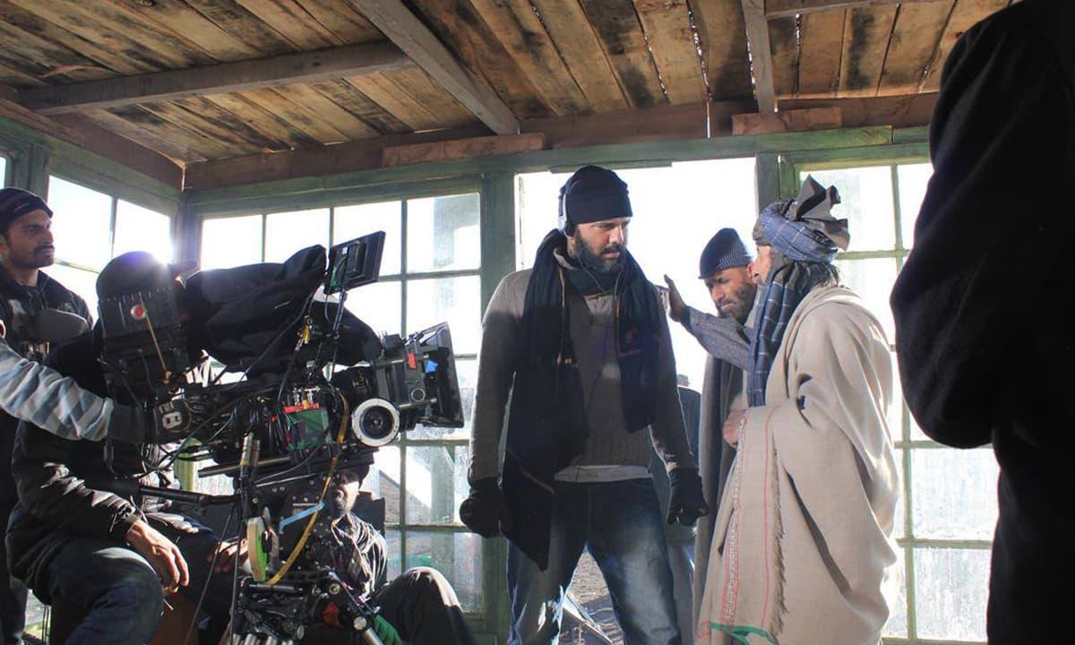 Jami directs on the set of Moor   Courtesy Azad Film Company