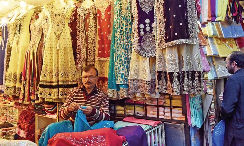 Sabir Ali owns a fancy dress shop and has mastered the art of handmade Mukesh wire designs on cloth. But it is a trend that is fast fading due to the advent of computerised designs and machine-made patterns.