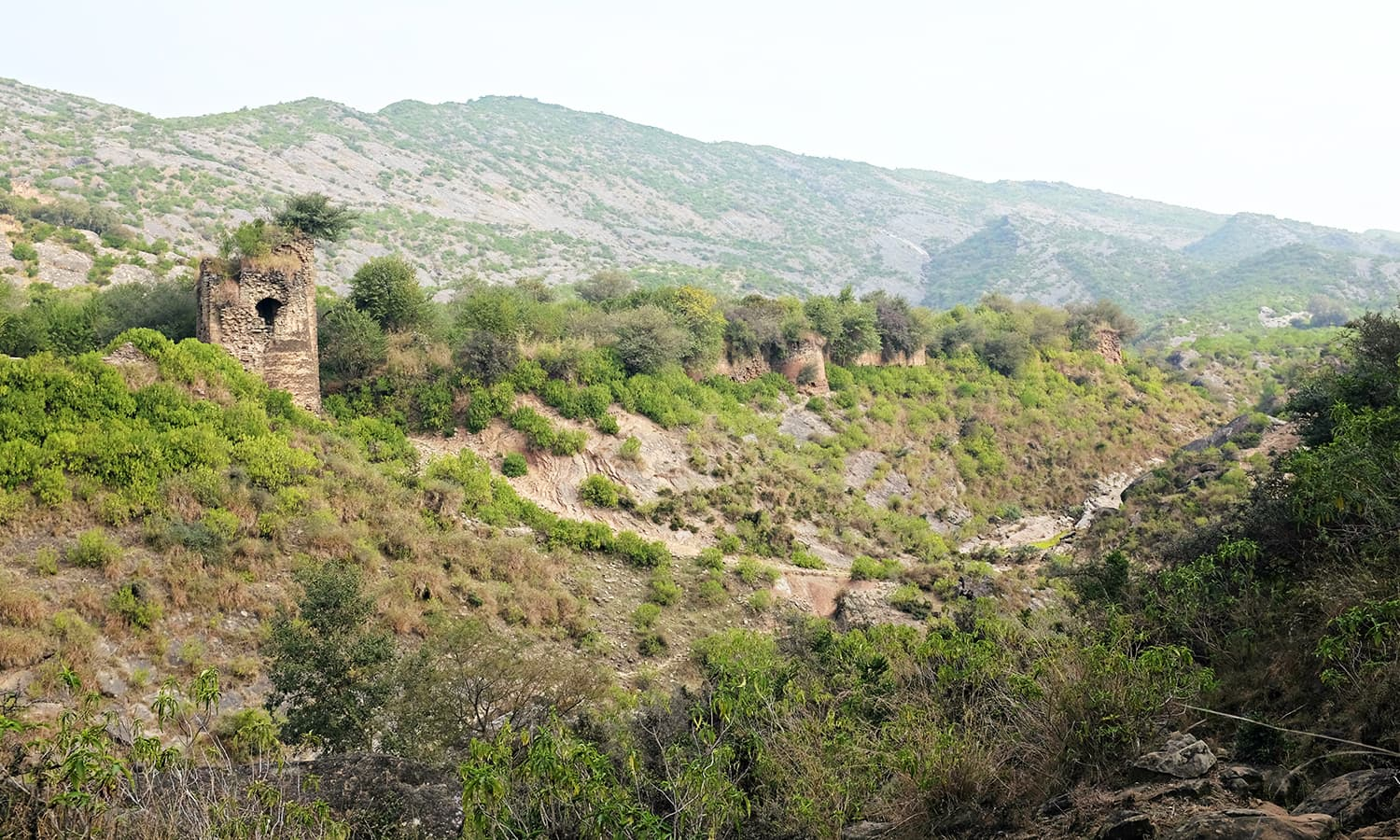 I spot the fort from a distance.