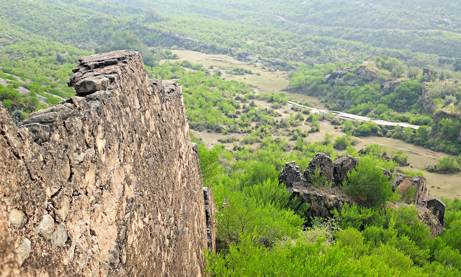 A view of the wall on the Eastern side.