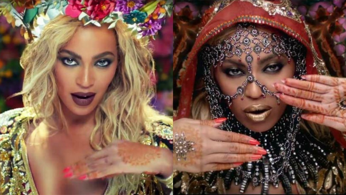 Where do we draw the line between cultural appreciation and appropriation? - Screenshot from Coldplay's Hymn for the Weekend