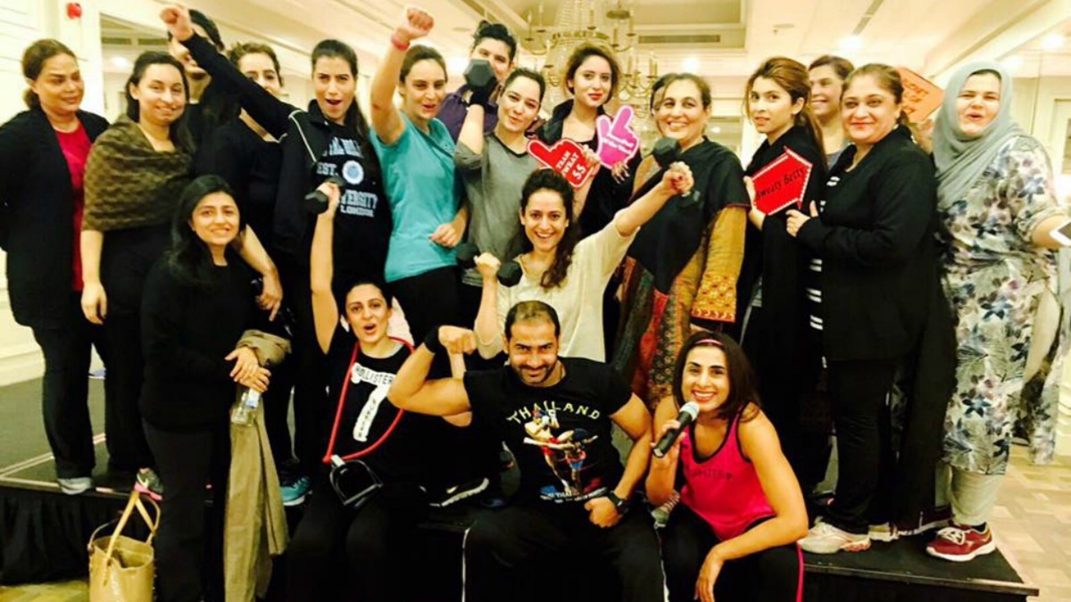 Lahore's boot camp ended with loyal clients committed to staying fit —Photo courtesy: Mantaha Maqsood's Facebook page