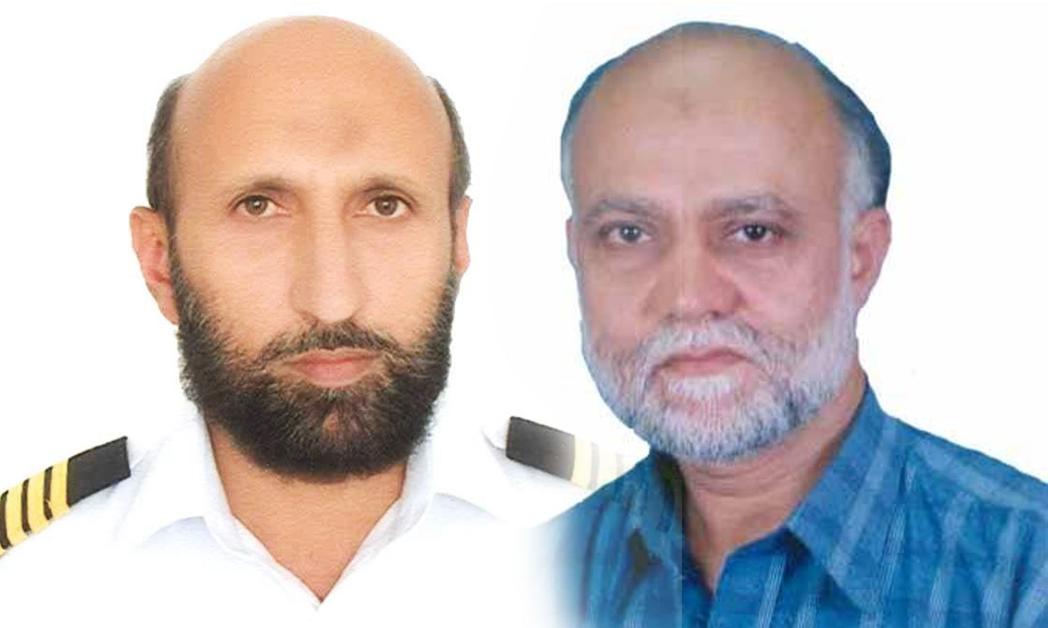 Saleem Akbar (L) and Inayat Raza (R), the two PIA employees who lost their lives during the protest. ─ Photo courtesy: Twitter