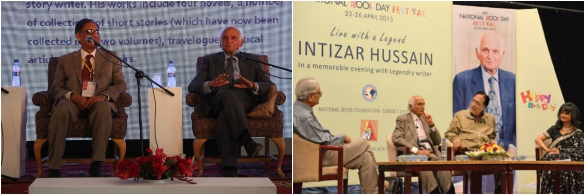 Intizar Husain was a sought after presence at literary festivals, where his vast body of work was discussed