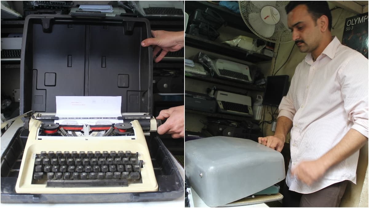 Without its casing, a typewriter's life is cut short